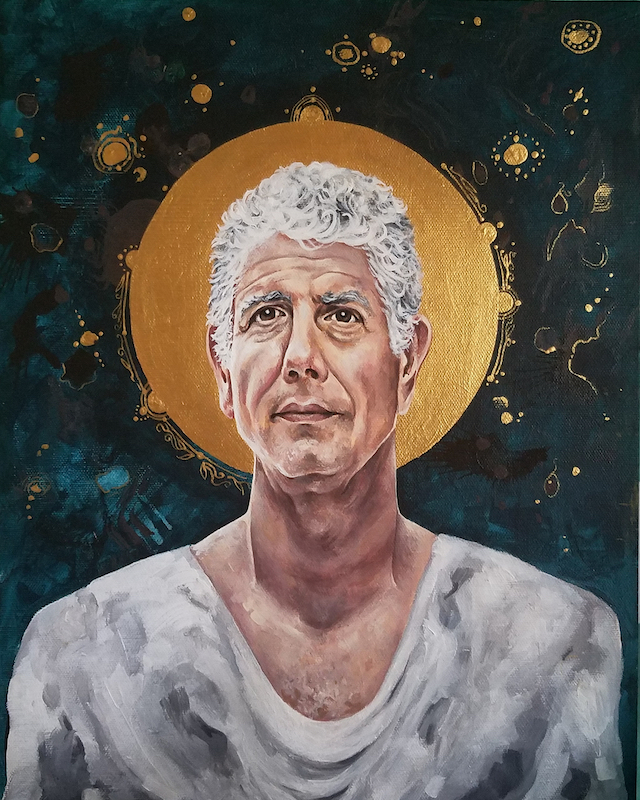 Portrait of Saint Anthony Bourdain